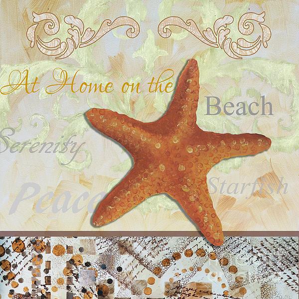Coastal Decorative Starfish Painting Decorative Art By Megan Duncanson Print by Megan Duncanson