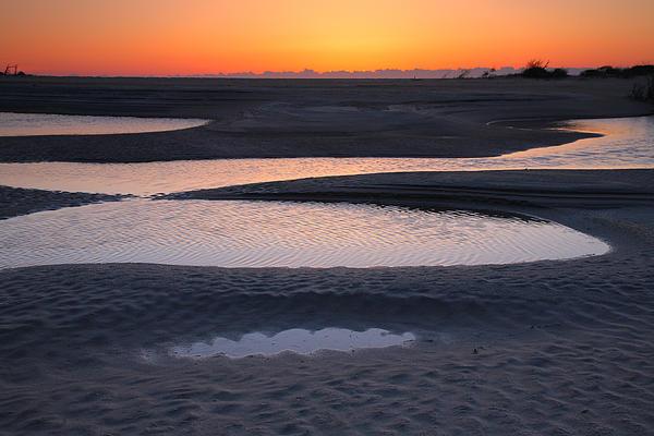 Coastal Ponds At Sunrise Print by Steven Ainsworth