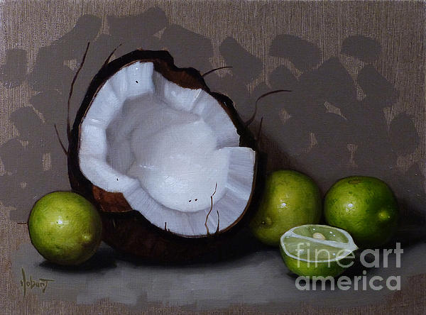 Coconut And Key Limes V Print by Clinton Hobart