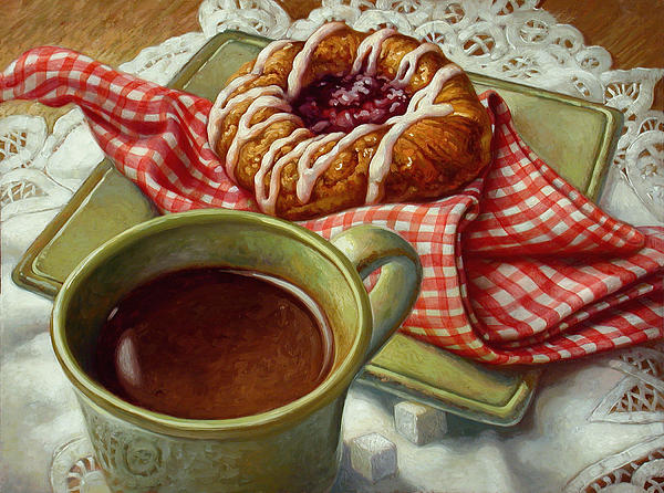 Coffee And Danish Print by Mia Tavonatti