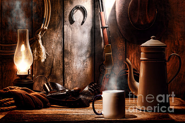 Coffee At The Cabin Print by Olivier Le Queinec