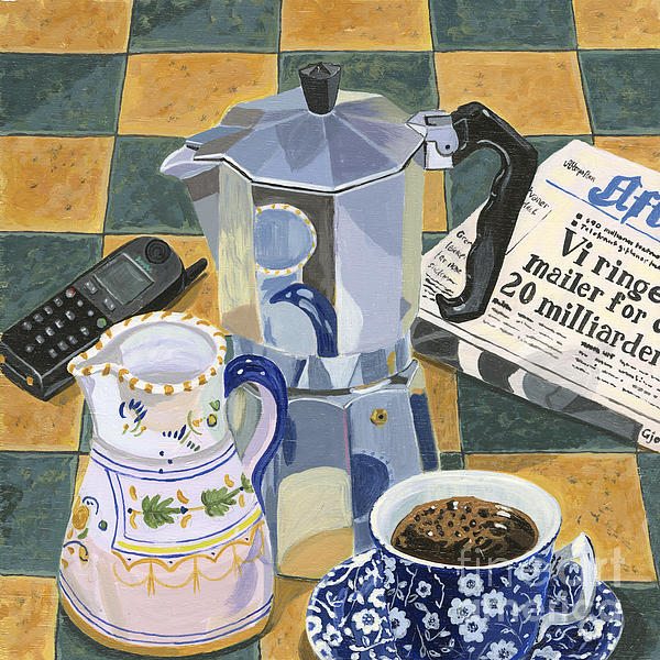 Coffee Break Print by Jane Dunn Borresen