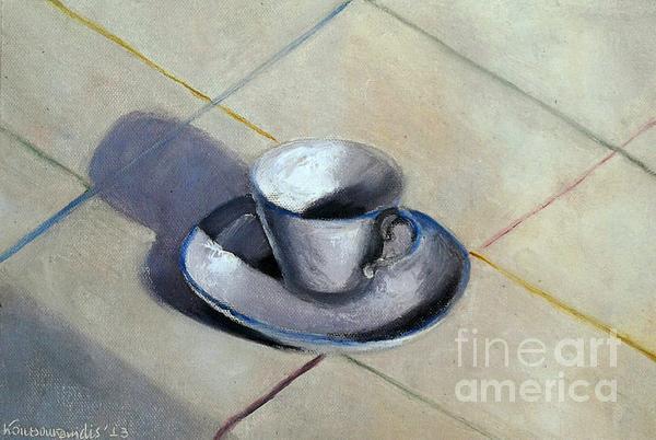 Coffee Cup Print by Kostas Koutsoukanidis