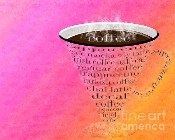 Coffee Cup The Jetsons Sorbet Print by Andee Design
