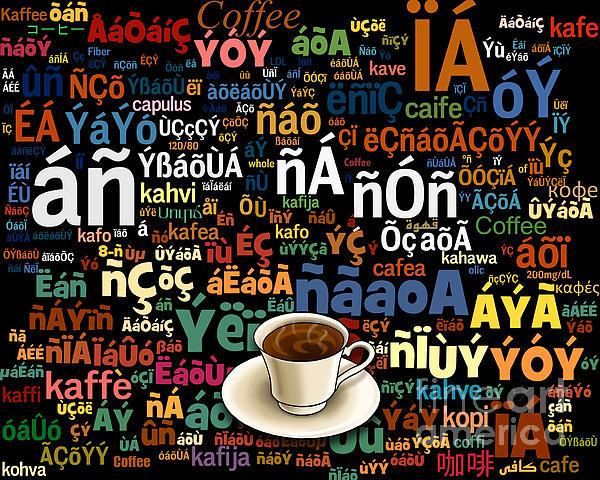 Coffee Language Print by Bedros Awak