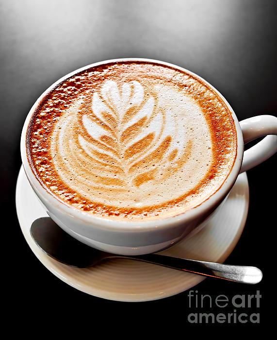 Coffee Latte With Foam Art Print by Elena Elisseeva