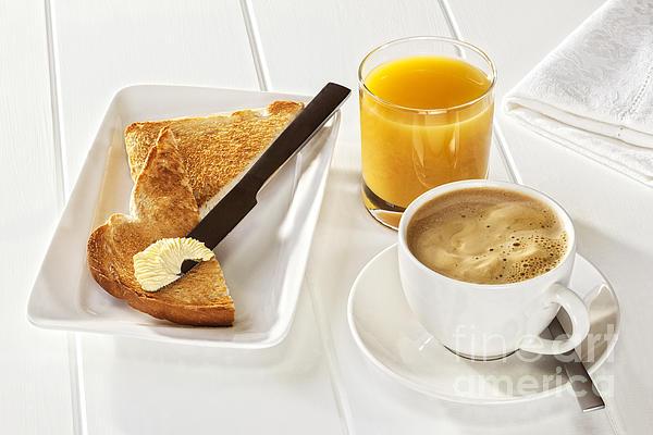 Coffee Toast Orange Juice Print by Colin and Linda McKie