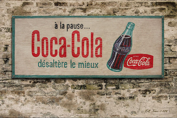 Cola Sign Print by Bill Jonas