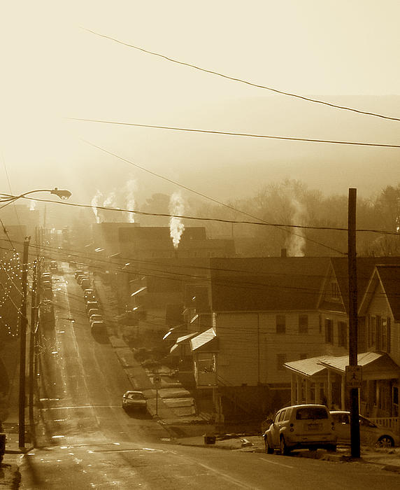 Cold Coal Town Morning Print by Feva  Fotos
