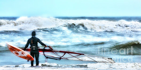 Cold Feet - Stormy Seas - Outer Banks Print by Dan Carmichael