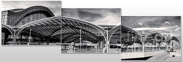 Cologne Central Train Station - Koln Hauptbahnhof - 02- Bw Print by Gregory Dyer