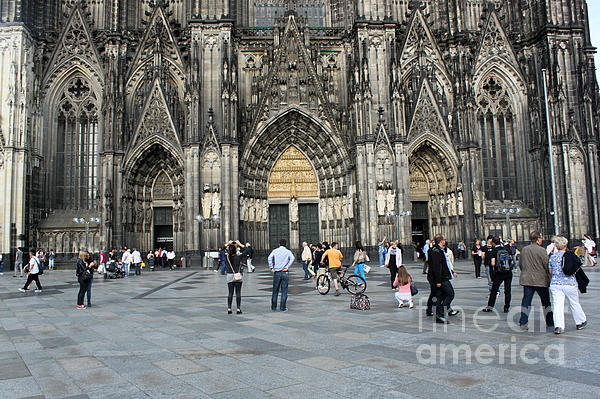 Cologne Germany - High Cathedral Of St. Peter - 17 Print by Gregory Dyer