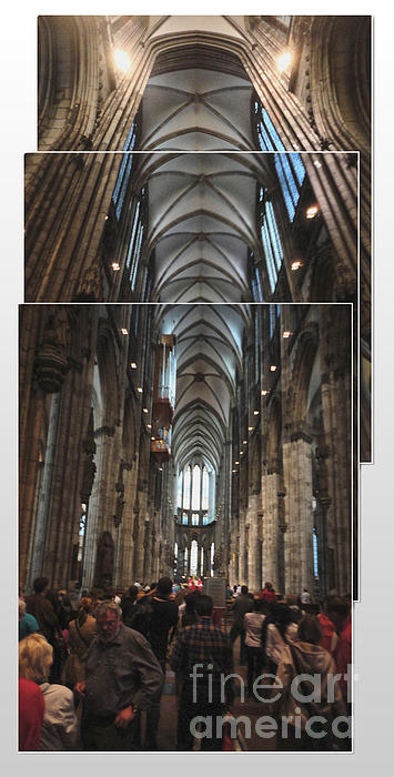 Cologne Germany - High Cathedral Of St. Peter - 01 Print by Gregory Dyer