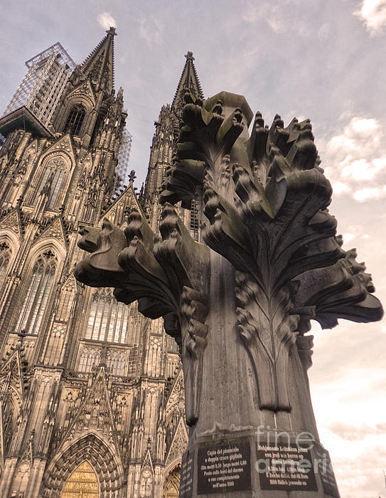 Cologne Germany - High Cathedral Of St. Peter - 08 Print by Gregory Dyer