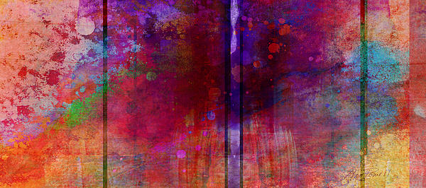 Color Burst Two Abstract Art  Print by Ann Powell