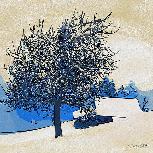 Color Of Winter Print by Marina Likholat