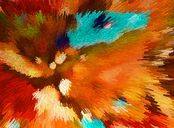 Color Shock 1 - Vibrant Digital Painting Print by Sharon Cummings