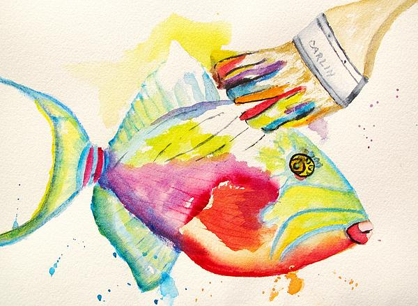 Color Transition - Triggerfish Print by Carlin Blahnik