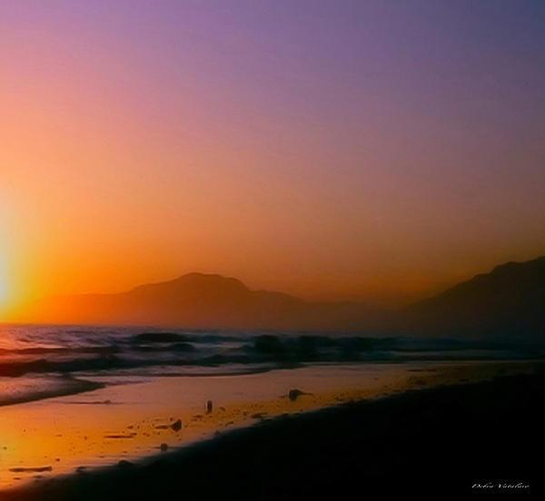 Color Wash Sunset  Print by Debra     Vatalaro