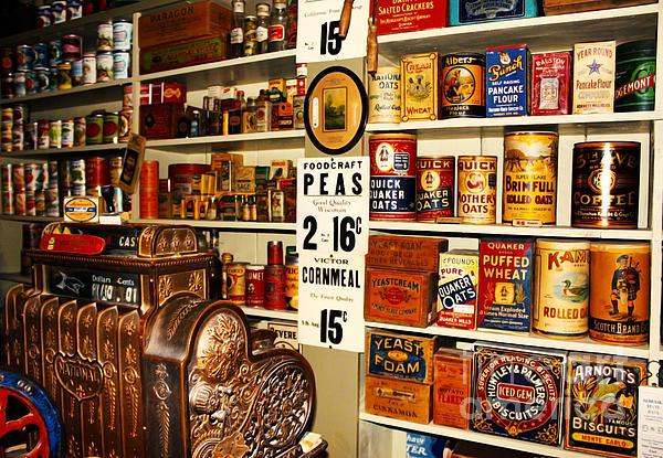 Colorado General Store Supplies Print by Janice Rae Pariza