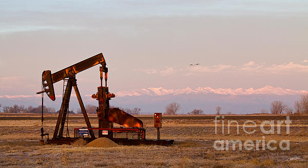 Colorado Oil Well Panorama Print by James BO  Insogna