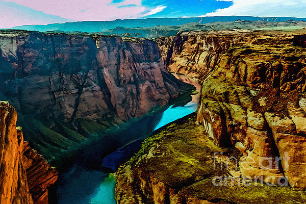 Colorado River Grand Canyon Print by Bob and Nadine Johnston