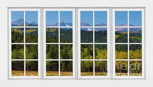 Colorado Rocky Mountains White Window Frame View Print by James BO  Insogna