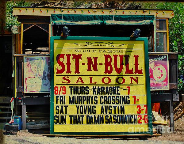 Colorado Sit-n-bull Saloon  Print by Janice Rae Pariza