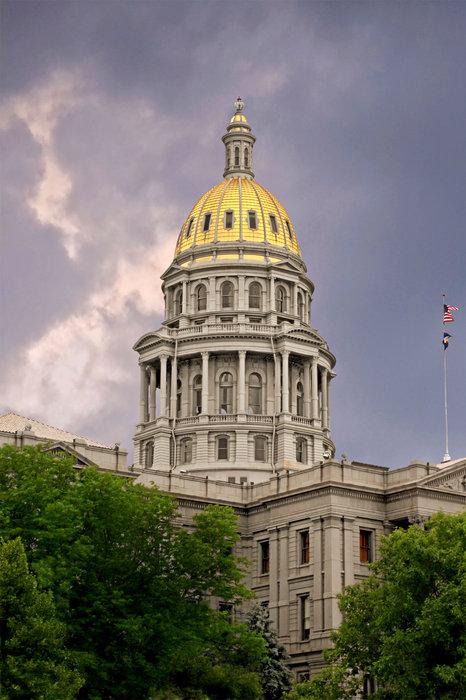 Colorado State Capitol Building Denver Co Print by Christine Till
