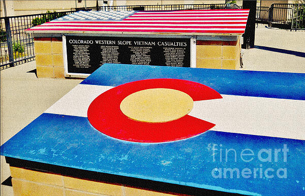 Colorado Western Slope Vietnam Casualities Print by Janice Rae Pariza