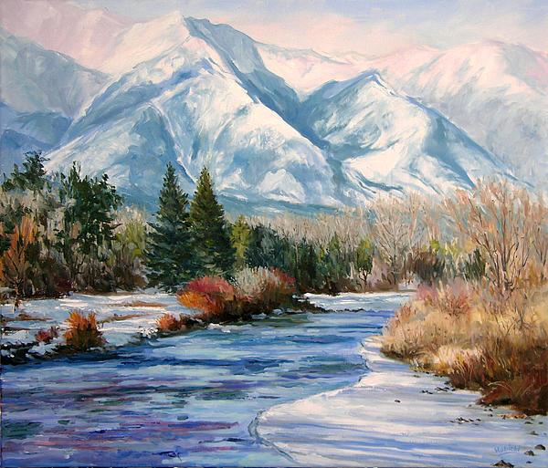 Colorado Winter On The Arkansas River Print by Frederick Hubicki