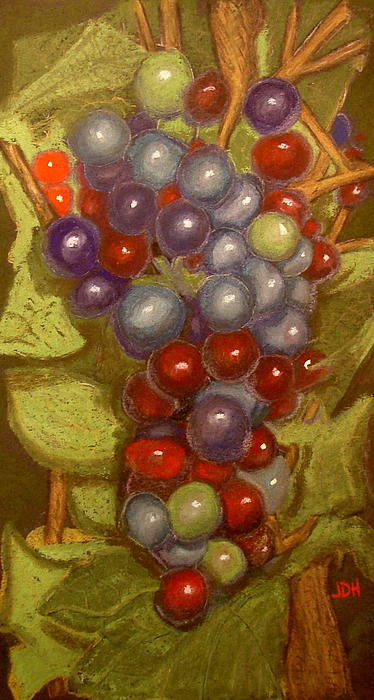 Colored Grapes Print by Joseph Hawkins