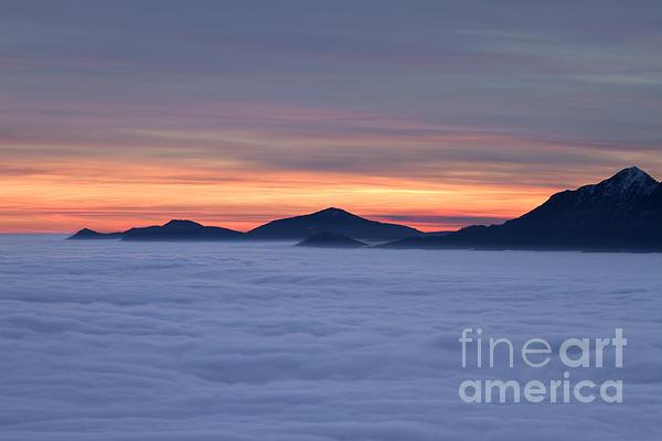Colored Sunset Print by Maurizio Bacciarini
