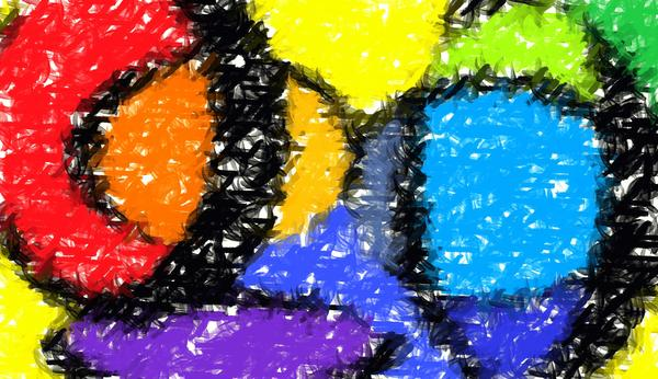 Colorful Abstract 3 Print by Chris Butler