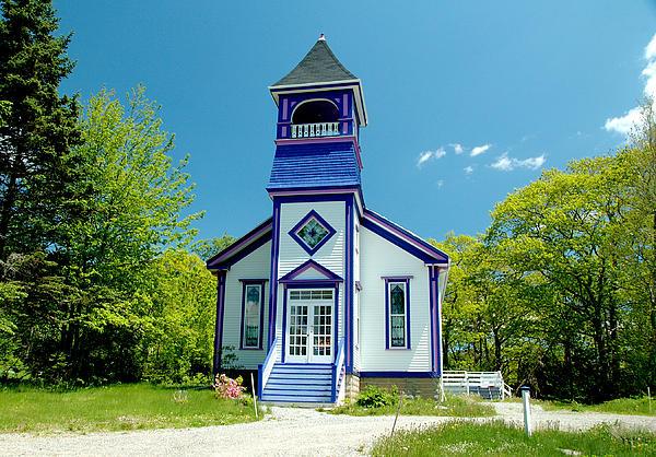 Colorful Church Print by Cathy Kovarik