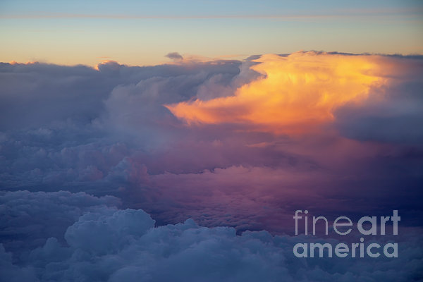 Colorful Cloud Print by Brian Jannsen