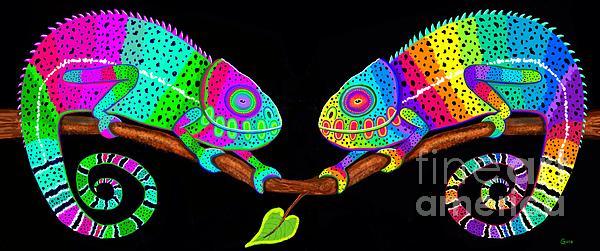 Colorful Companions Print by Nick Gustafson