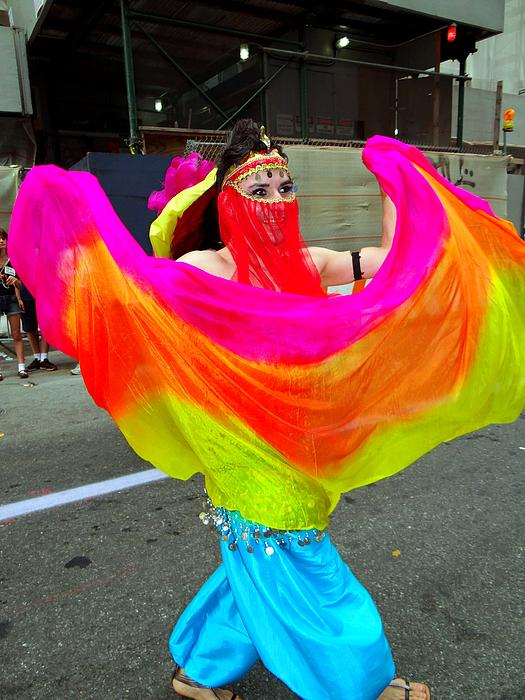 Colorful Dance Print by Ed Weidman