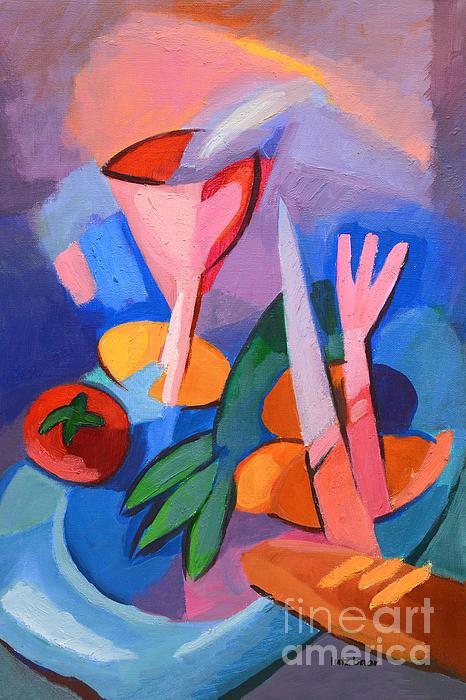 Colorful Dinner Print by Lutz Baar