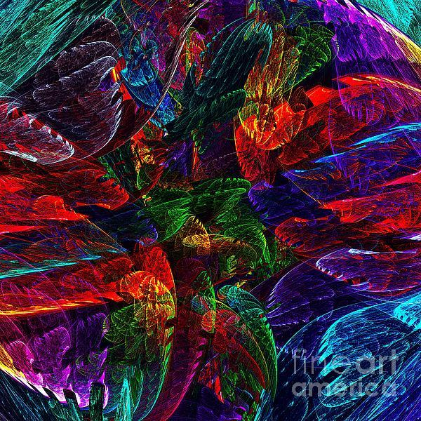 Colorful Leaves Print by Klara Acel