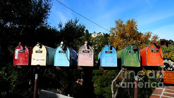 Colorful Mailboxes Print by Nina Prommer