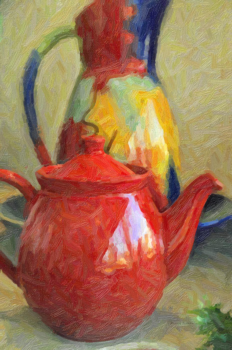 Colorful Pottery Print by Kenny Francis