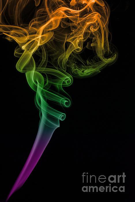 Vishwanath Bhat - Colorful smoke abstract on black