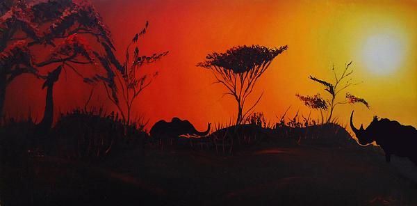 Colors Of Africa 45 Print by James Dunbar