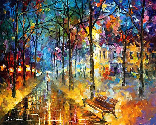 Leonid Afremov - Colors of My Past - PALETTE KNIFE Oil Painting By Leonid Afremov