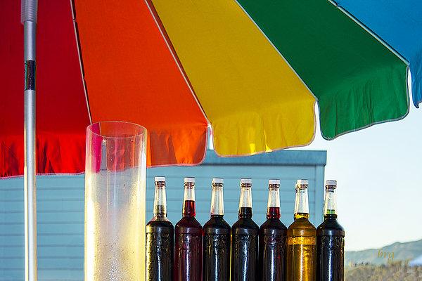 Colors Of Santa Monica Beach Print by Ben and Raisa Gertsberg
