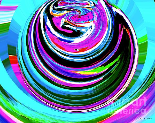Colors On Canvas II Print by Annie Zeno