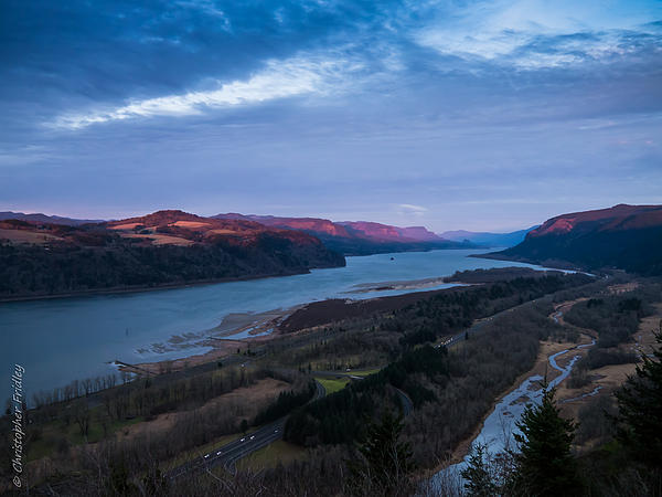 Columbia River Valley Print by Christopher Fridley