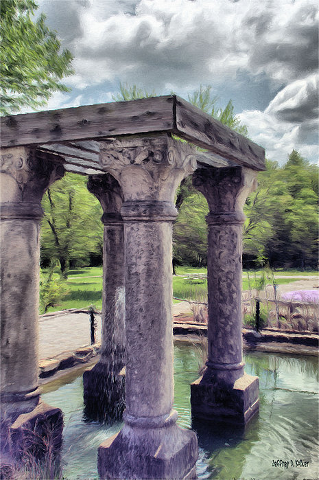 Columns In The Water Print by Jeff Kolker
