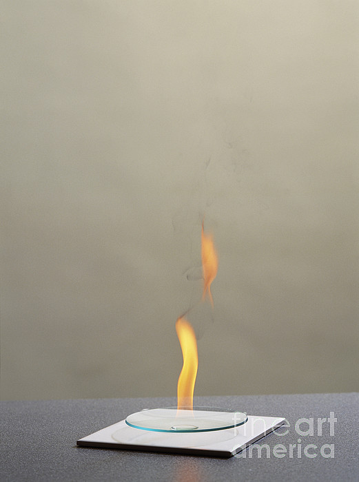 Combustion Of An Alkane Print by Martyn F. Chillmaid